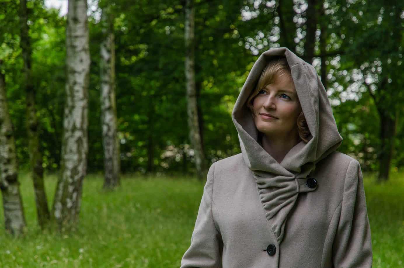 Christina im Birkenwald