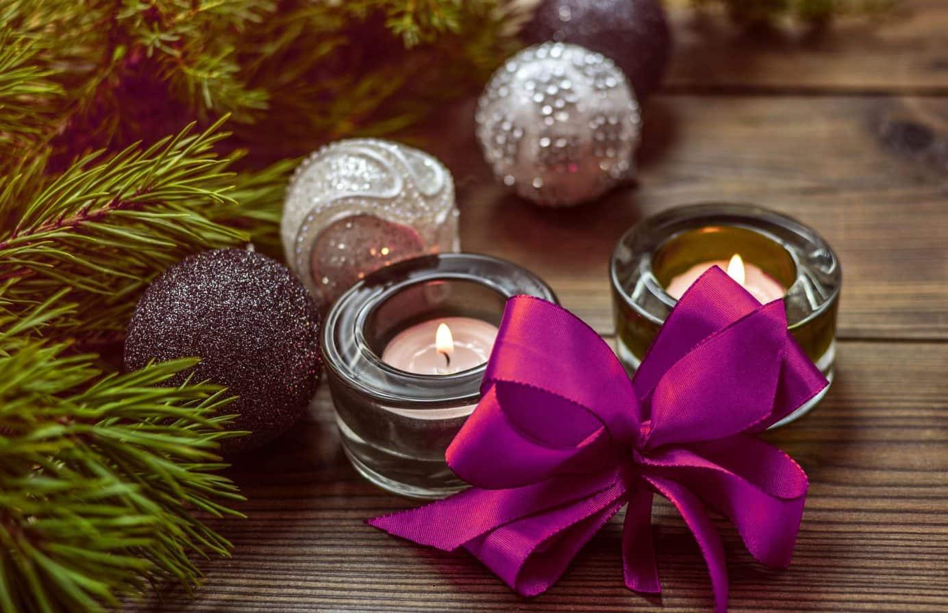 Kerzen für Weihnachtsstimmung